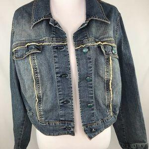 Lane Bryant Plus Size Moto Denim Jean Jacket